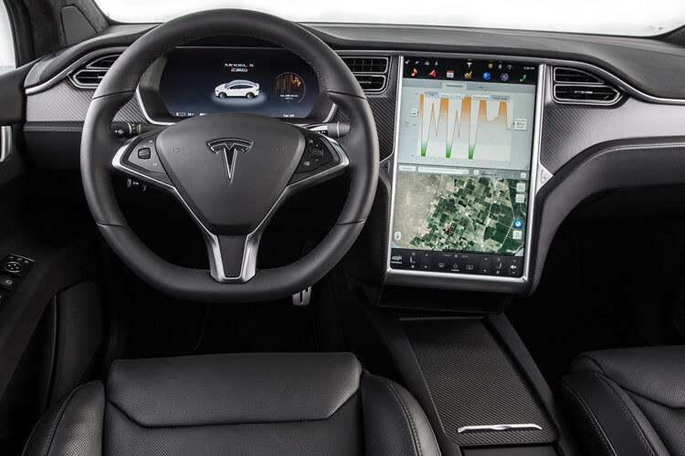 Tesla Model X SUV 5Dr Tri Motor Elec 761KW 1020PS Plaid 5Dr Auto inside view